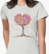 Love in the Fall Fitted T-Shirt