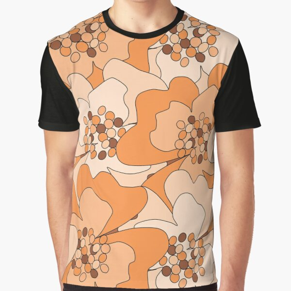 Peach Passion Flowers Graphic T-Shirt