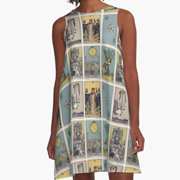 6 Tarot Card A-Line Dress