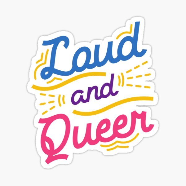 Queer Here Sticker