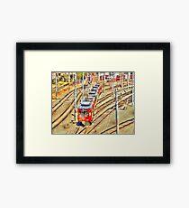 Metro Yard Framed Print