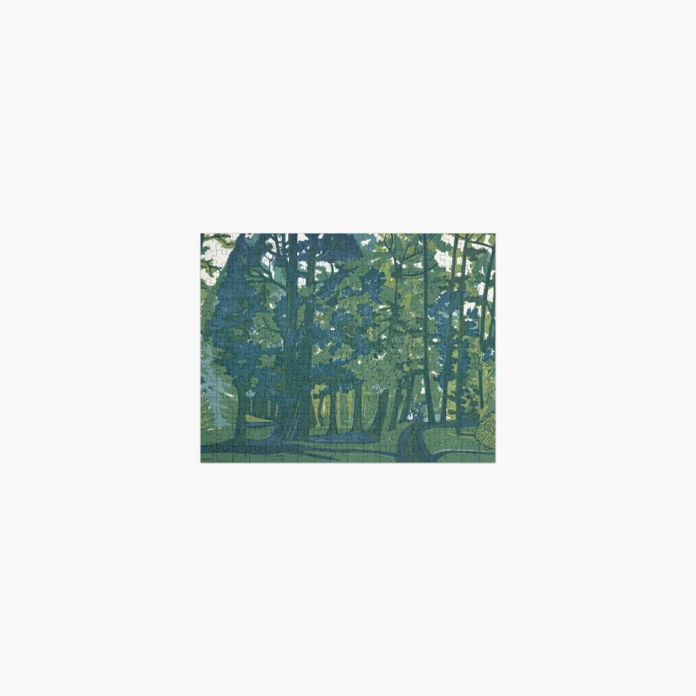 Dusk in the Gardens - Original Linocut by Francesca Whetnall Jigsaw Puzzle