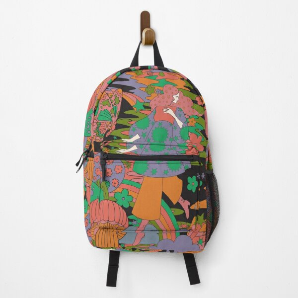 Psychedelic Pattern Backpack