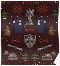 Ugly Doctor/Villain Christmas Sweater Poster