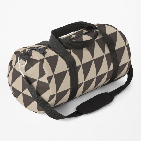 Brown Triangles Pattern Duffle Bag