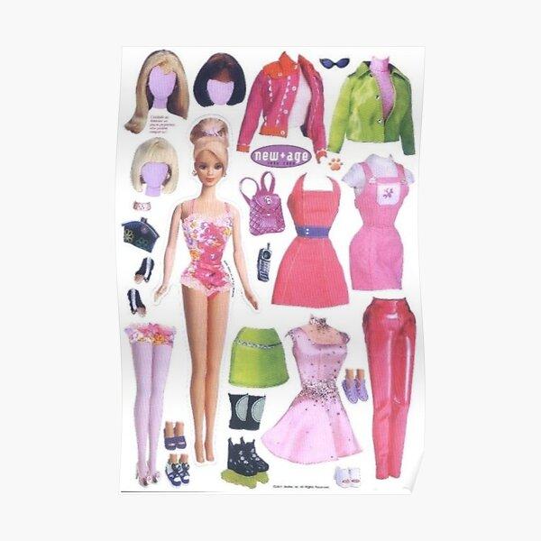 y2k barbie magazine esthétique Poster