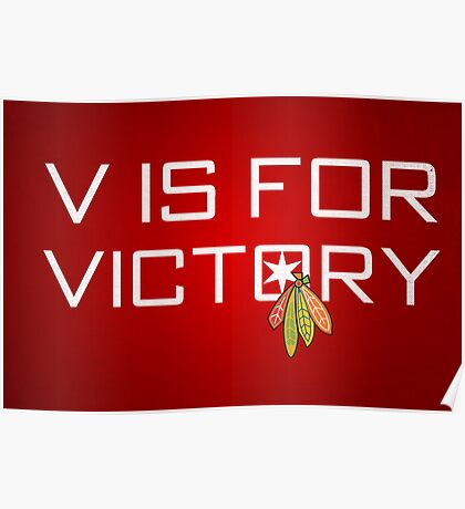 V is for Victory Poster