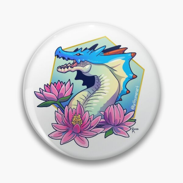 Water Lilly Lagiacrus Pin