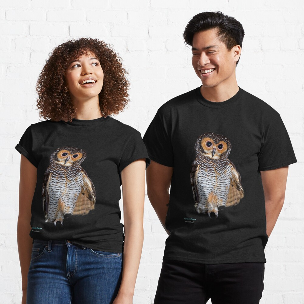 Spotted Wood Owl Strix Seloputo T Shirt By Normf Redbubble