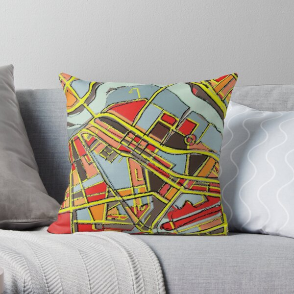 Lowell, MA Throw Pillow