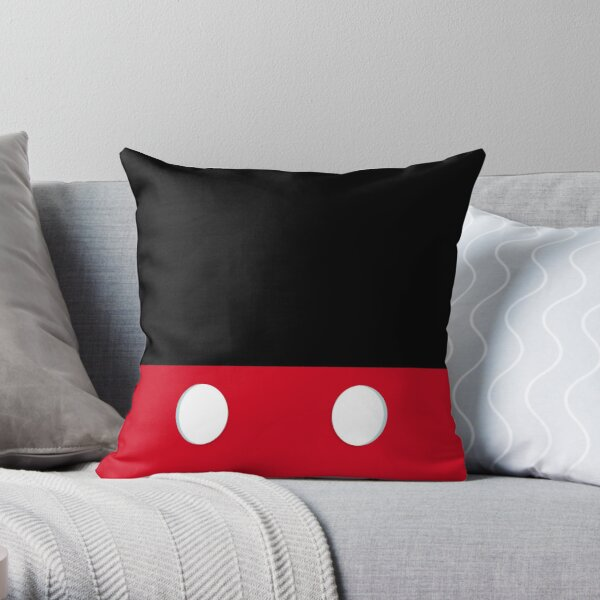 Mouse Mask Throw Pillow