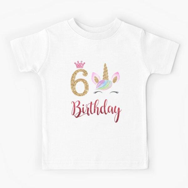 6th Birthday Unicorn Dabbing, 6 Years Old, 6th Birthday Unicorn, Birthday Shirts For Girls, 6 Year Old Birthday Girl, Unicorn Shirt For 6th Birthday, six Unicorn Birthday Kids T-Shirt