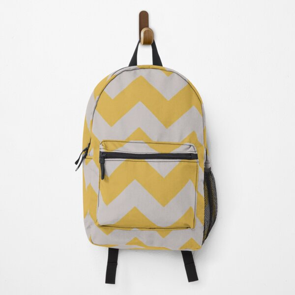 SPICY MUSTARD AND GREY CHEVRON ZIG ZAG ARROW PATTERN BY OZCUSHIONSTOO Backpack
