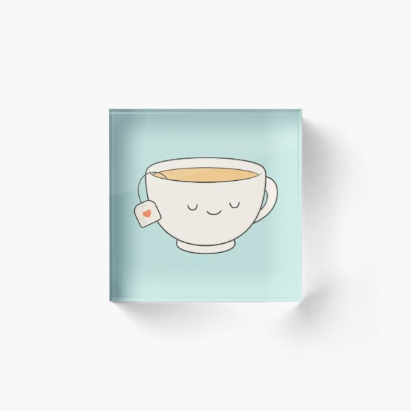 Teacup Acrylic Block