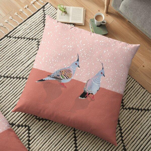 Crested Pigeon birds Floor Pillow