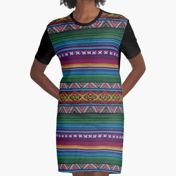 Peruvian textile pattern Graphic T-Shirt Dress