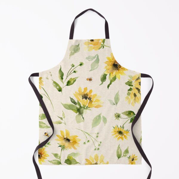 Sunflowers and Bees Apron