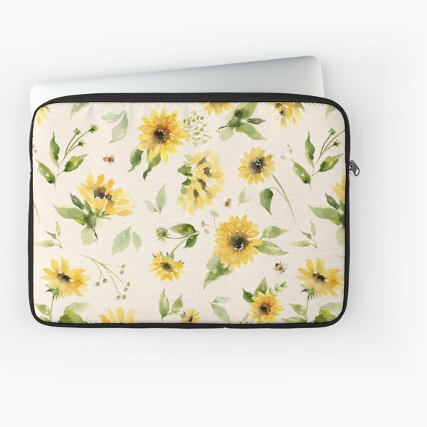 Sunflowers and Bees Laptop Sleeve
