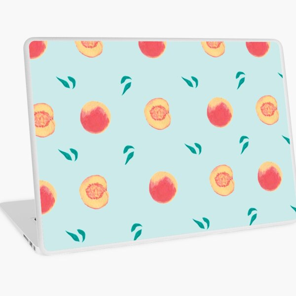 Peach Pattern (Teal) Laptop Skin