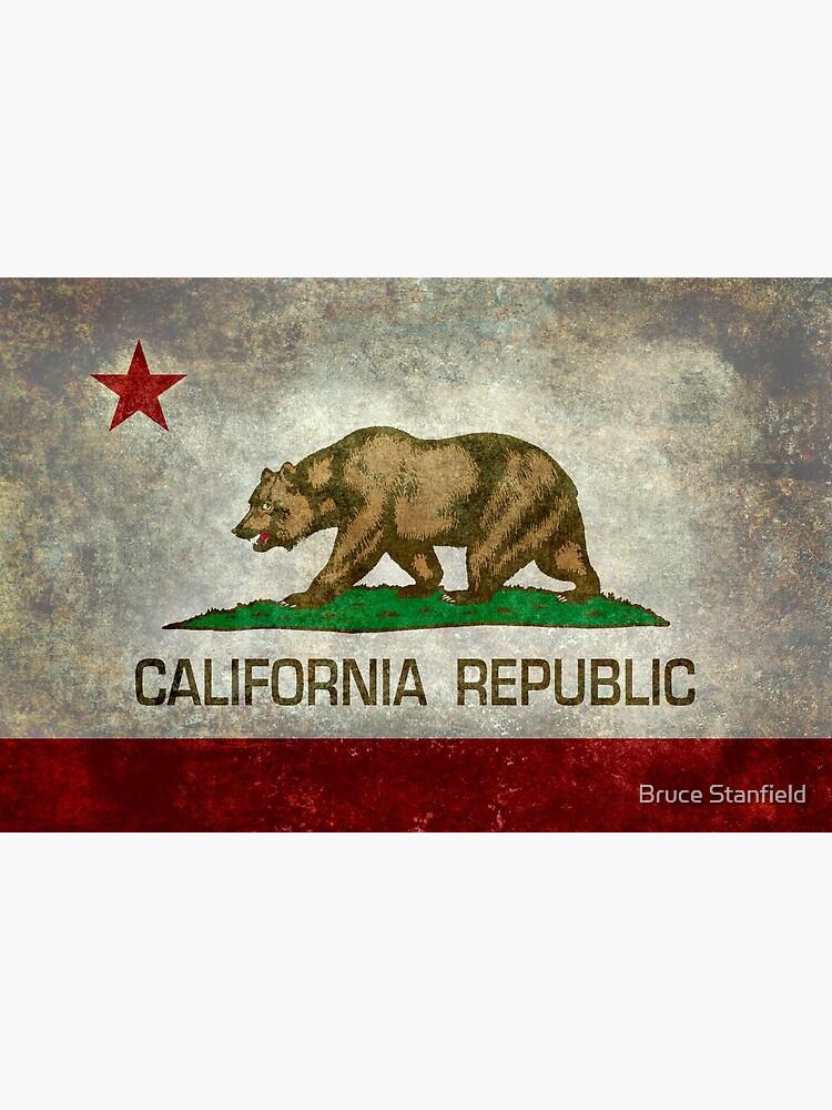 California Republic state flag - Vintage retro version by Bruiserstang