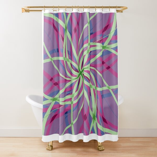 Stripes are Boring Swirl Shower Curtain