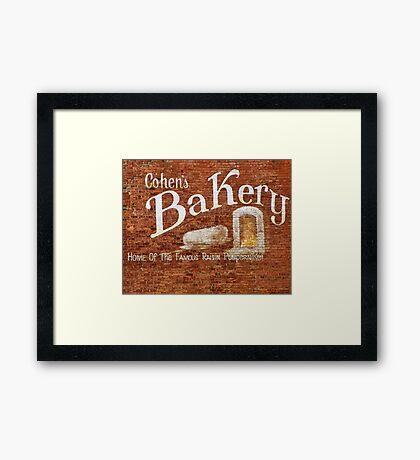 Cohens Bakery Ellenville NY Framed Print