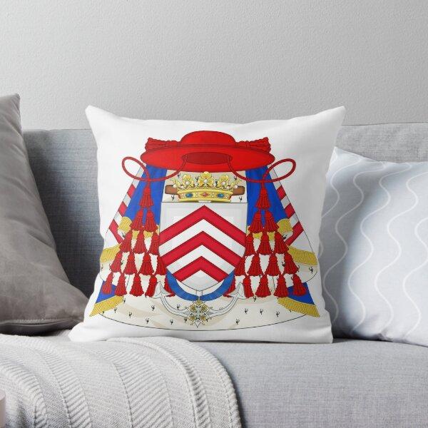 Coat of Arms of Cardinal Richelieu Throw Pillow
