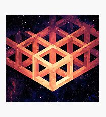 Grid in Space Photographic Print