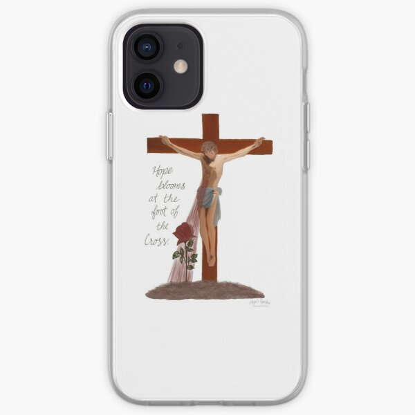 Hope Blooms at the Foot of the Cross iPhone Soft Case
