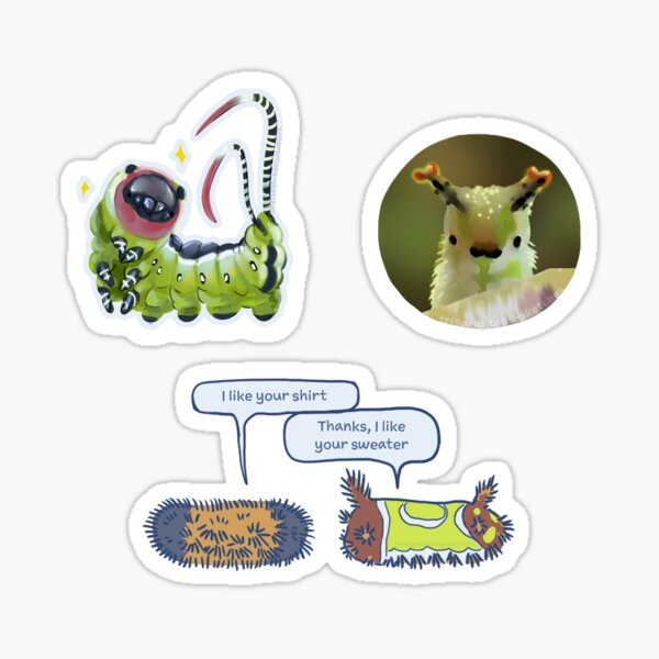 Caterpillars Sticker