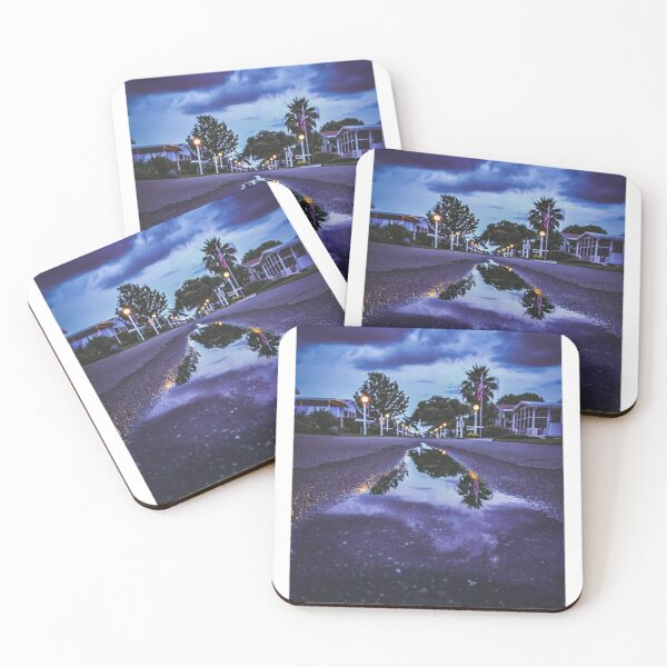 Puddle in the Road Coasters (Set of 4)