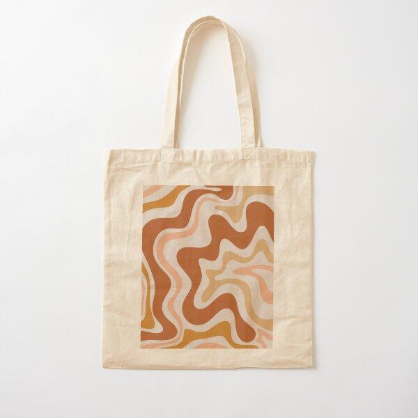 Liquid Swirl Retro Modern Abstract dans les tons de terre Tote bag classique