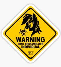 Biohazard Poney Sticker
