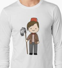 Eleventh Doctor Pandorica Kawaii Cartoon Design Long Sleeve T-Shirt