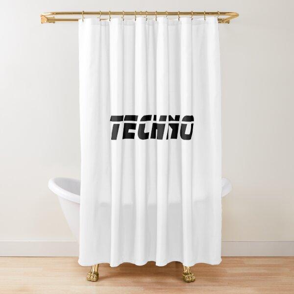 Techno #techno01 Shower Curtain
