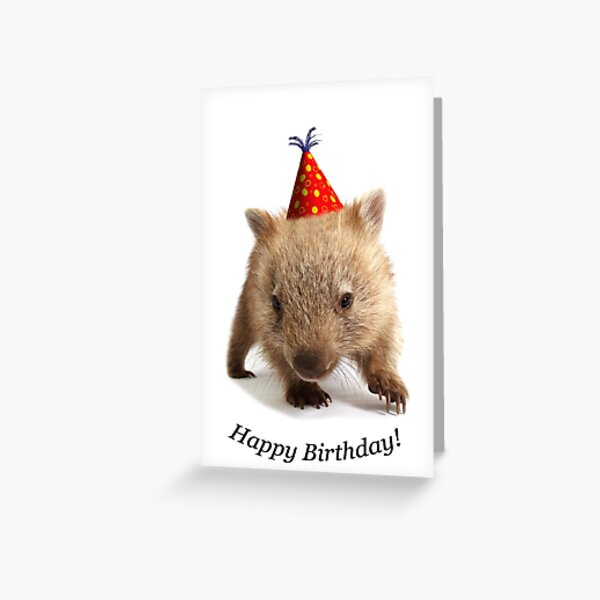 A wombat happy birthday. Greeting Card