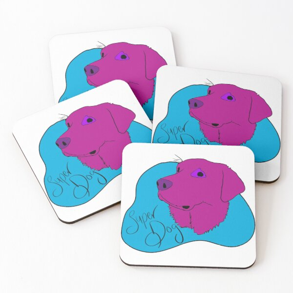 Super Dog Coasters (Set of 4)