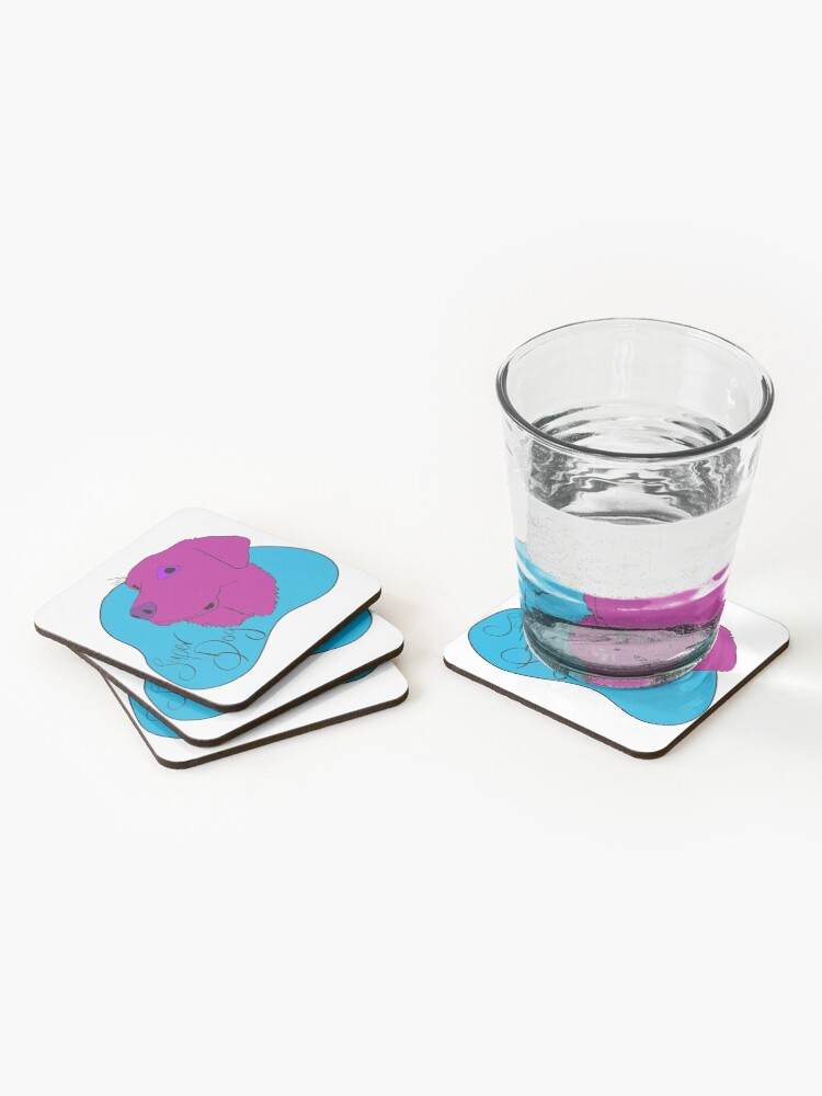 Alternate view of Super Dog Coasters (Set of 4)