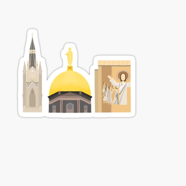 """Notre Dame """"Skyline"""" Sticker"""