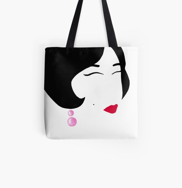 Flapper Girl All Over Print Tote Bag