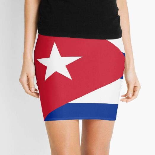 National flag of Cuba - Authentic HD version Mini Skirt