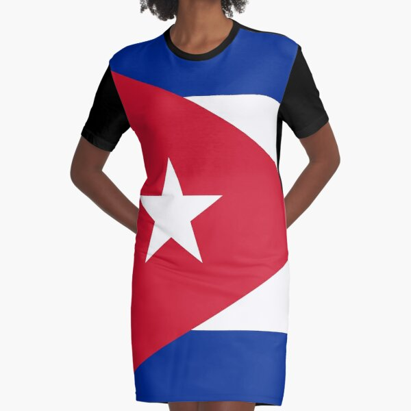 National flag of Cuba - Authentic HD version Graphic T-Shirt Dress