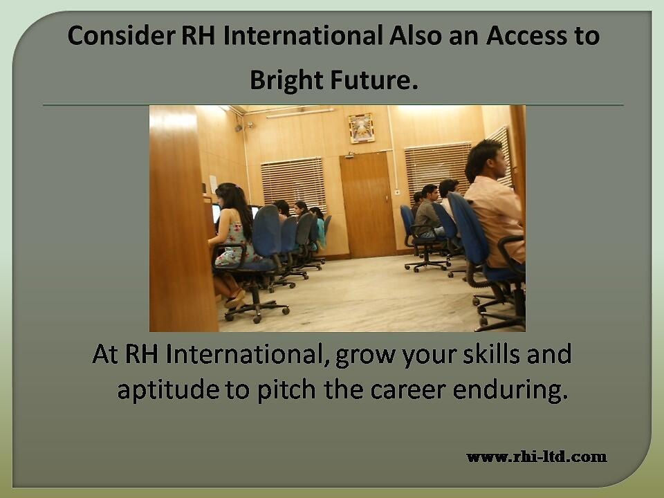 Kick start career with RH International by rhiltd