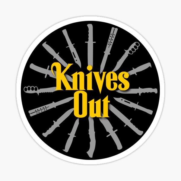 knives out Sticker