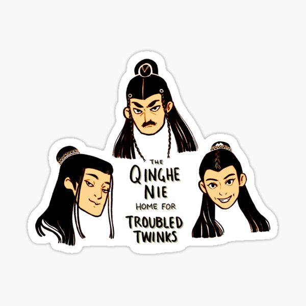Qinghe Nie Home for Troubled Twinks Sticker
