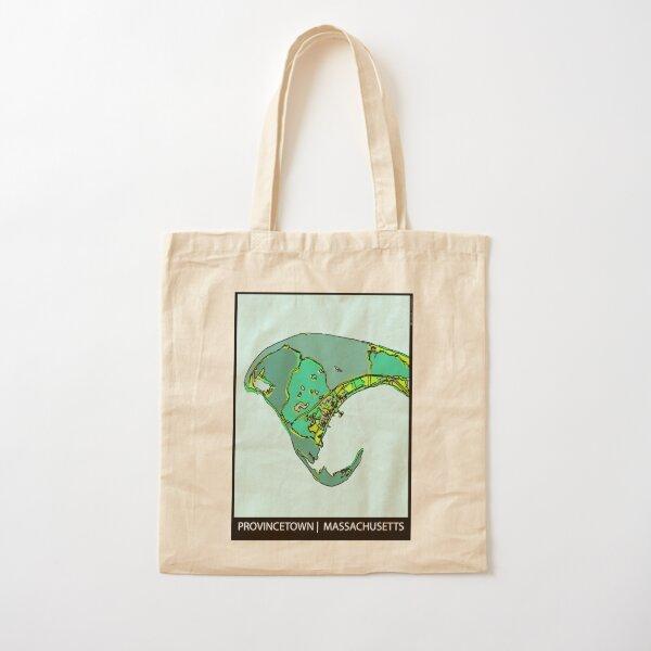 Provincetown, MA Cotton Tote Bag