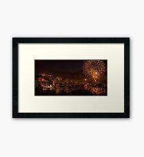 Sydney New Year- Harbour Fireworks Framed Print