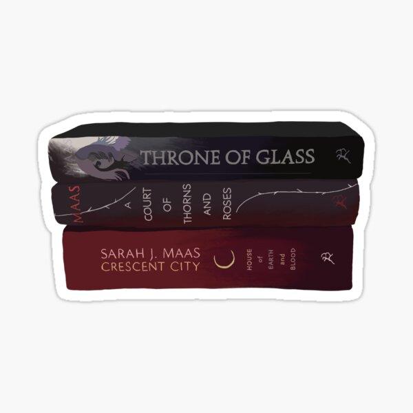 Sarah J Maas Pila de libros Pegatina