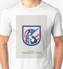 Patriots Day Greeting Card American Patriot  USA Flag Look Up Crest T-Shirt