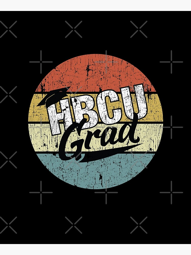 HBCU Grad With Cap Vintage by blackartmatters